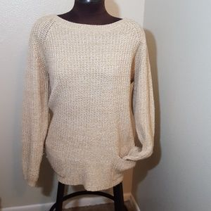 Hannah tan sweater with pockets